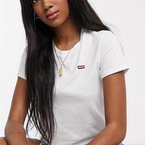 Levi's Perfect White T Shirt with Chest Logo Size Small